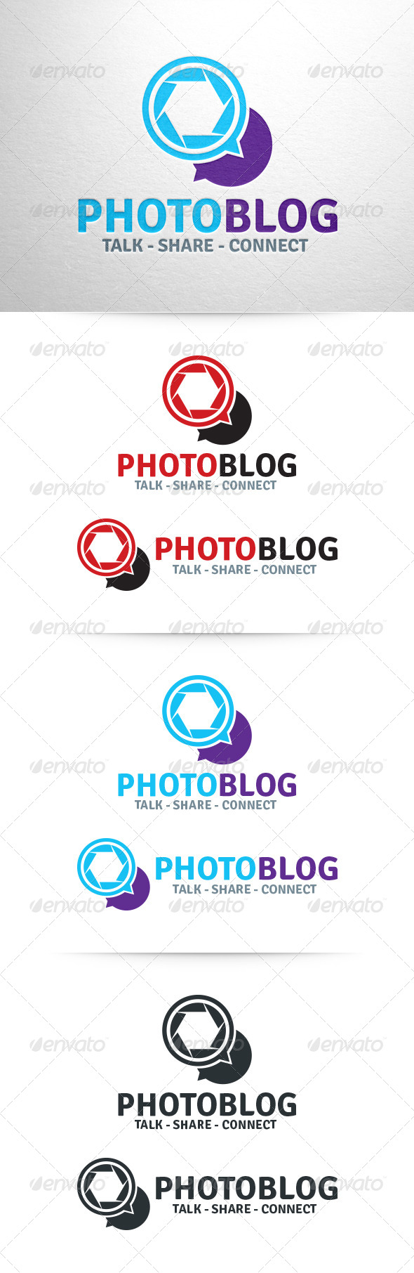GraphicRiver Photo Blog Logo Template 6429230
