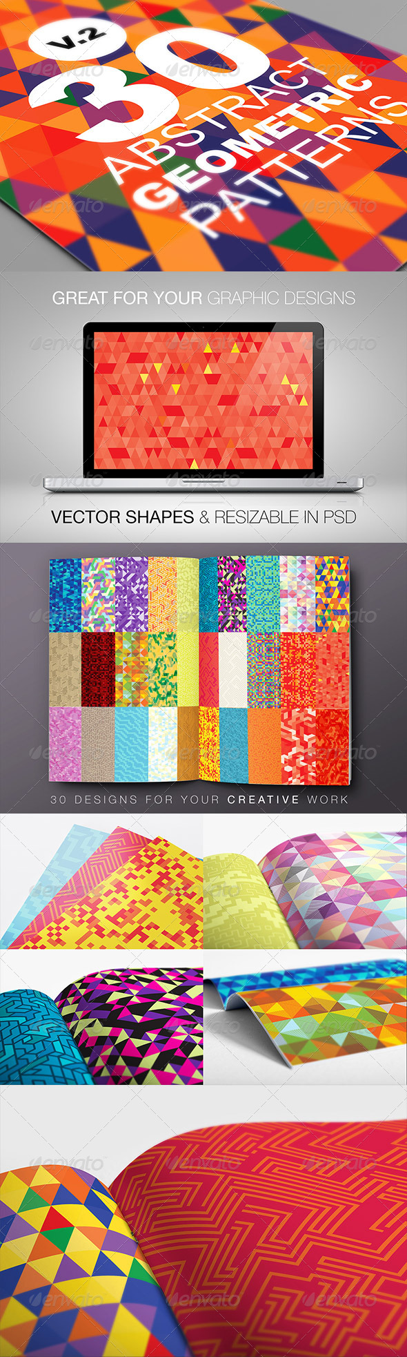 GraphicRiver Abstract Geometric Backgrounds V.2 6429276