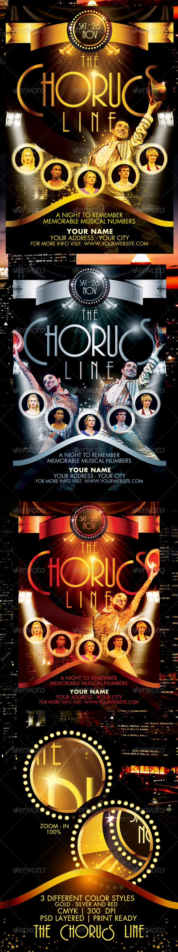The Chorus Line Flyer Template - Clubs & Parties Events