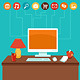 Vector Home Office  - GraphicRiver Item for Sale