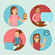 Vector Characters Working at Computers  - GraphicRiver Item for Sale