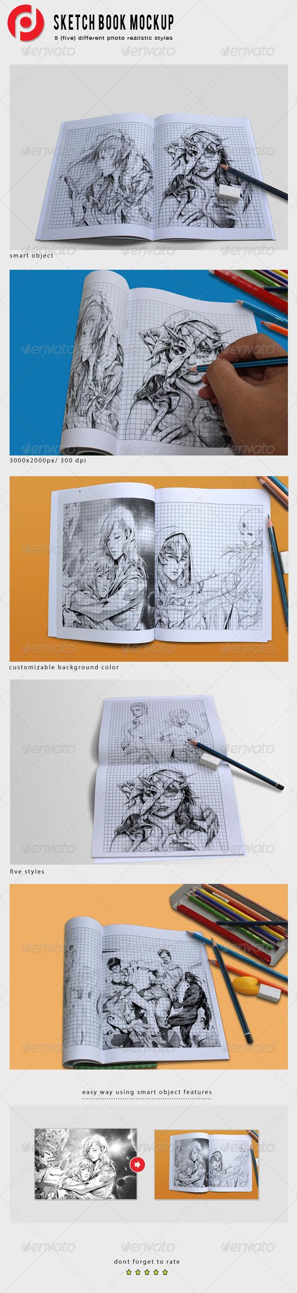 GraphicRiver Sketch Book Mockups 6429443