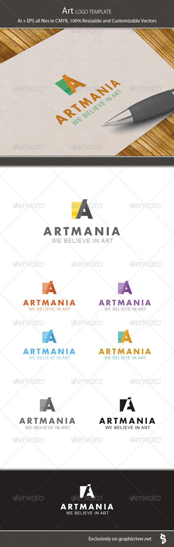 GraphicRiver Art Logo Template 6429476