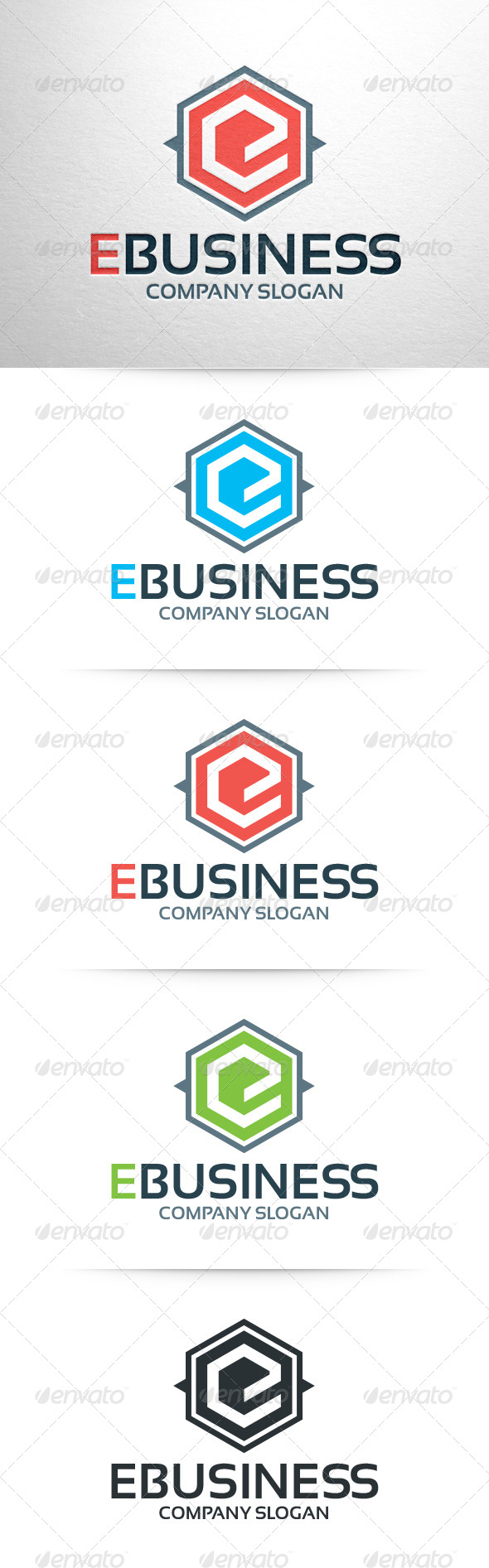 GraphicRiver E-Business Letter E Logo Template 6429493