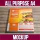 Realistic All Purpose A4 Mock-Up - GraphicRiver Item for Sale