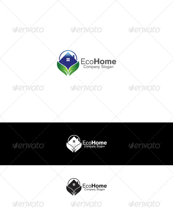 GraphicRiver Eco Home Logo 6429602