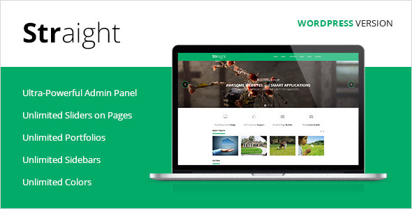 Straight - Multipurpose WordPress Theme - Creative WordPress