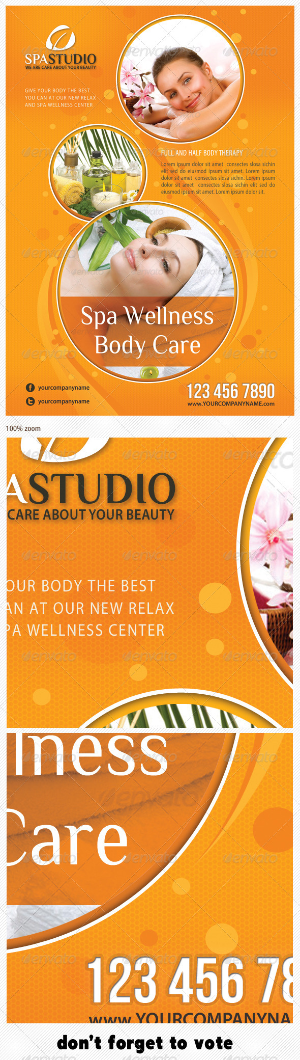 Spa Studio Flyer 15 - Corporate Flyers