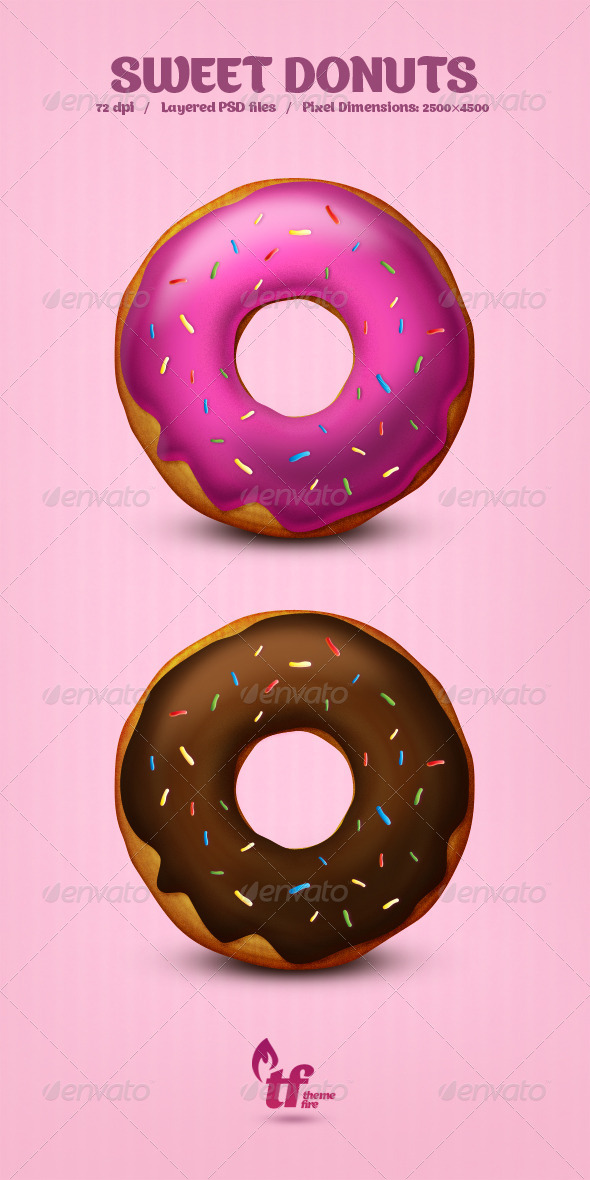 Sweet Donuts - PSD | GraphicRiver