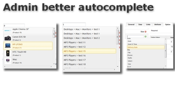 CodeCanyon Admin better autocomplete for OpenCart 6430051