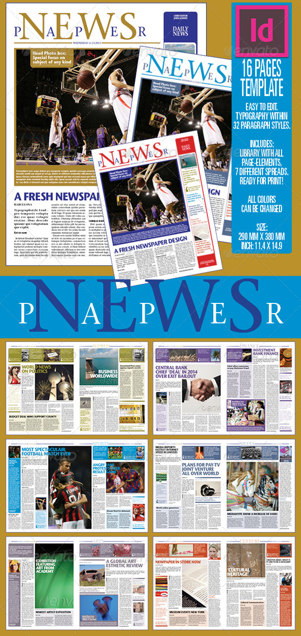 GraphicRiver 16 pages NEWSPAPER 6430098