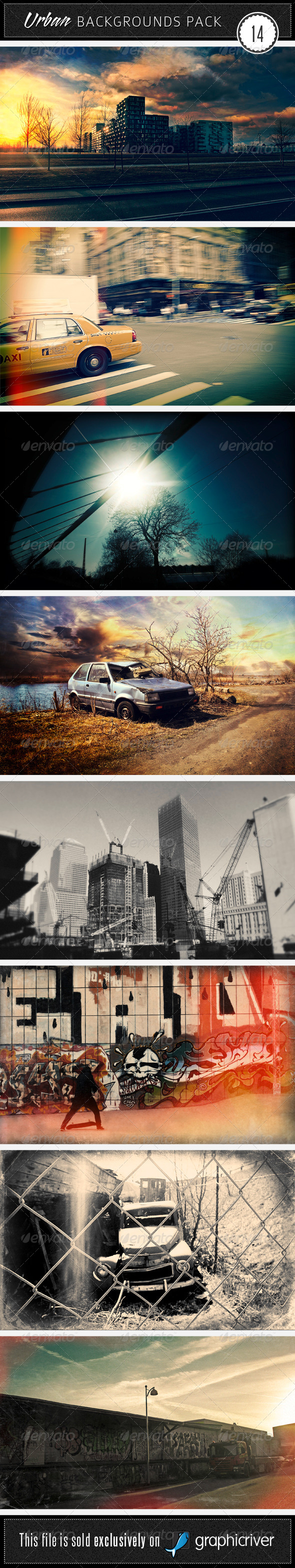 GraphicRiver Urban Backgrounds Pack 14 4491232