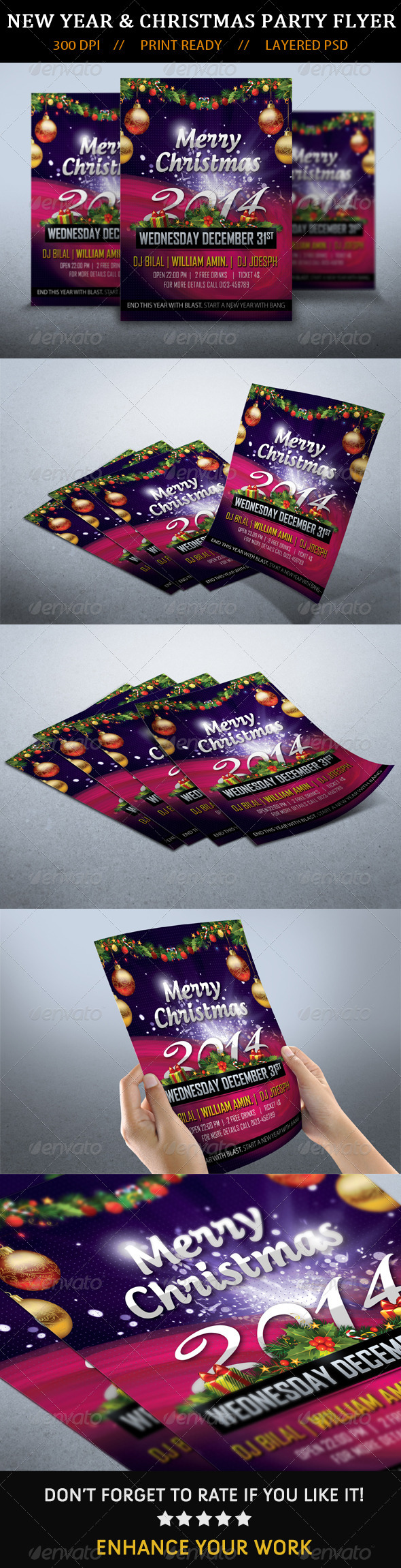 GraphicRiver Christmas New Year Party Flyer 2014 6372653