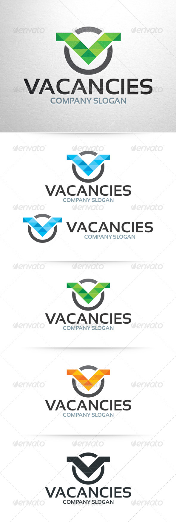 GraphicRiver Vacancies Letter V Logo Template 6430248