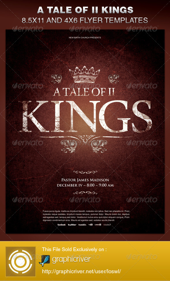 GraphicRiver A Tale of Two Kings Church Flyer Template 6397001