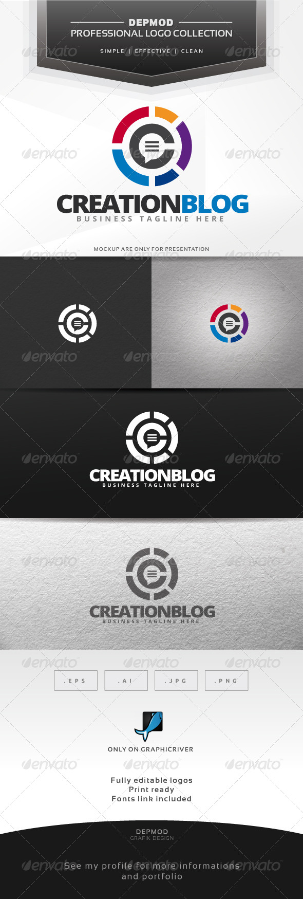 GraphicRiver Creation Blog Logo 6430322
