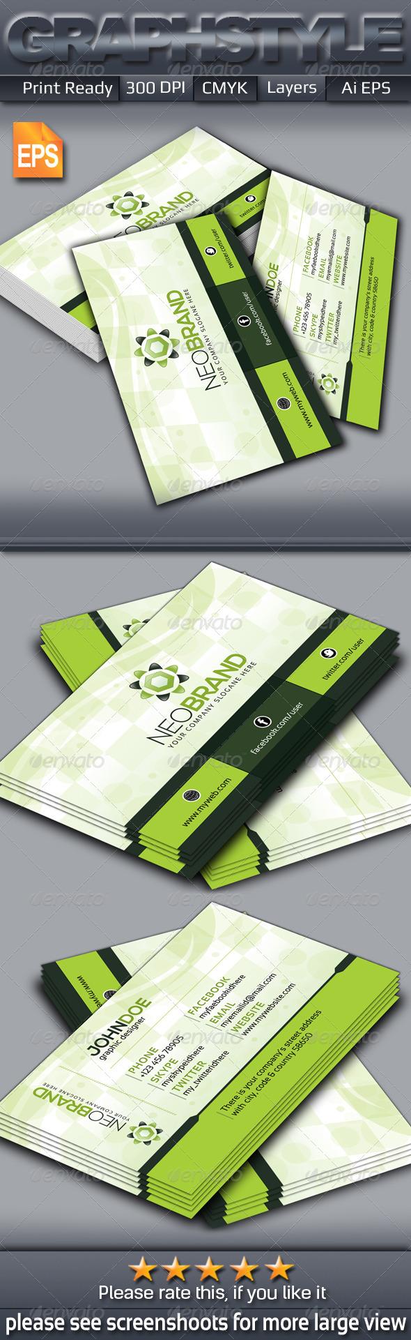 GraphicRiver Neobrand Creative Business Card 6387381