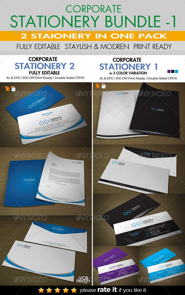 GraphicRiver Corporate Stationery Bundle 1 6430613
