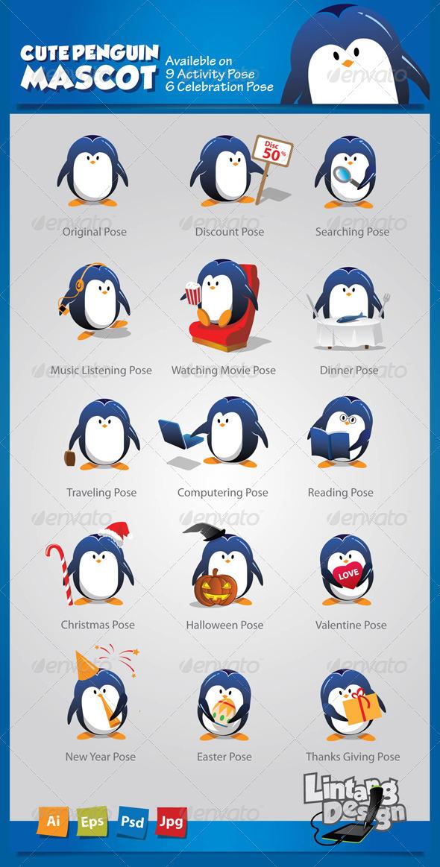 GraphicRiver Penguin Mascot-001 6419690