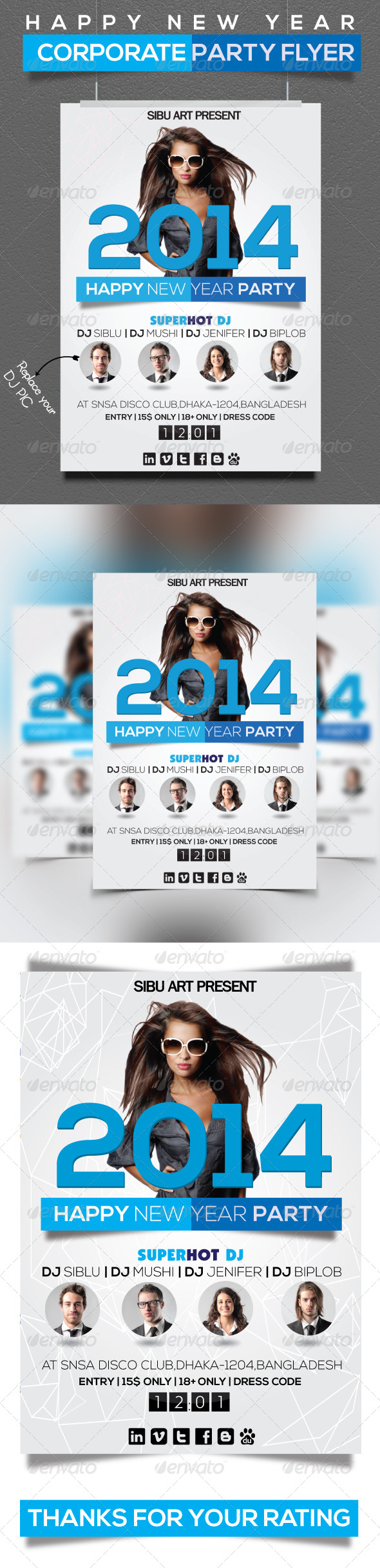 Corporate New Year Flyer
