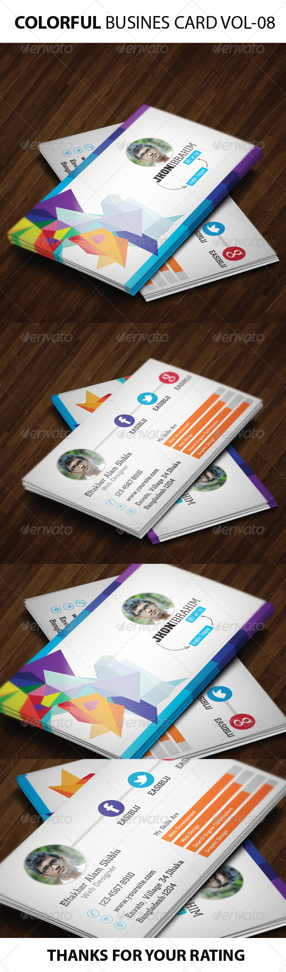 GraphicRiver Colorful Business Card 6134118