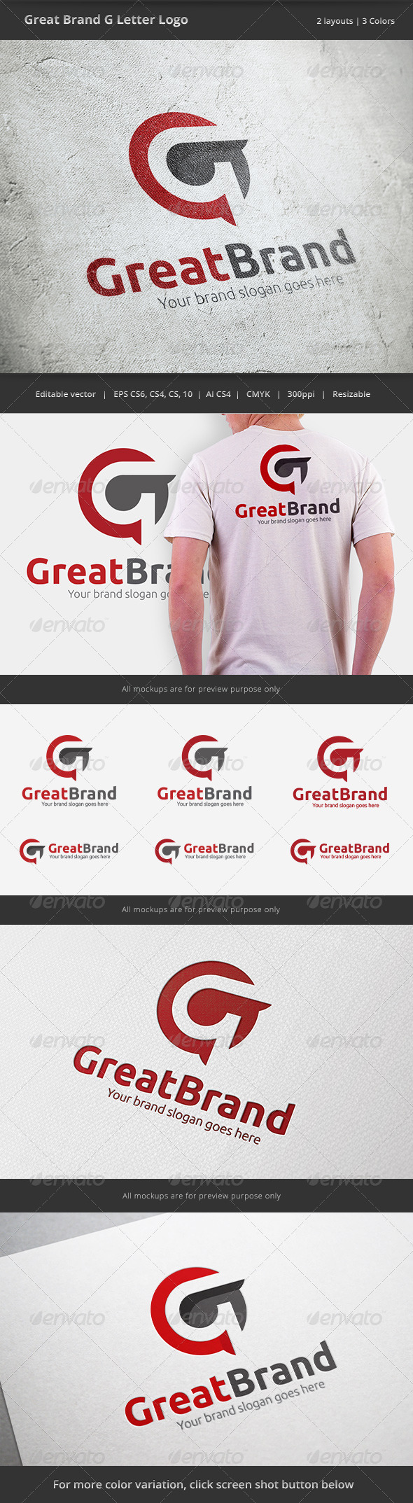 GraphicRiver Great Brand Letter G Logo 6430817