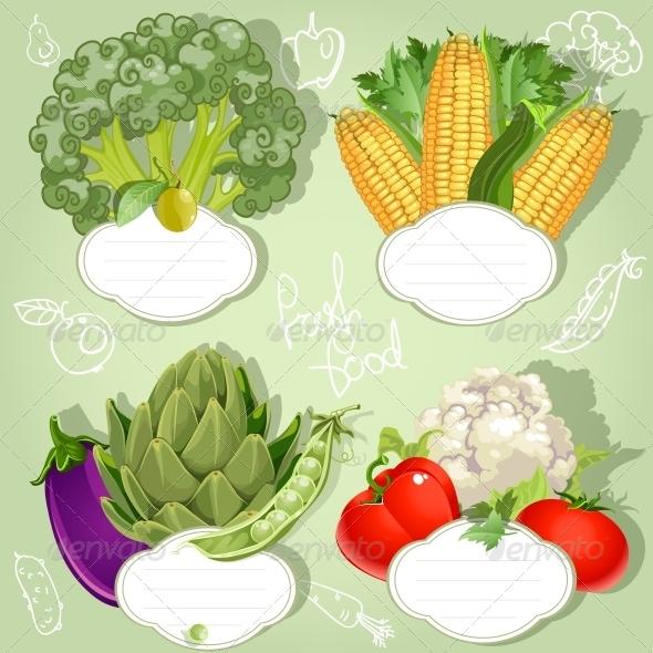 GraphicRiver Vegetarian Menu Banners 6431111
