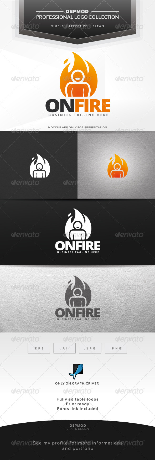 GraphicRiver On Fire Logo 6431122