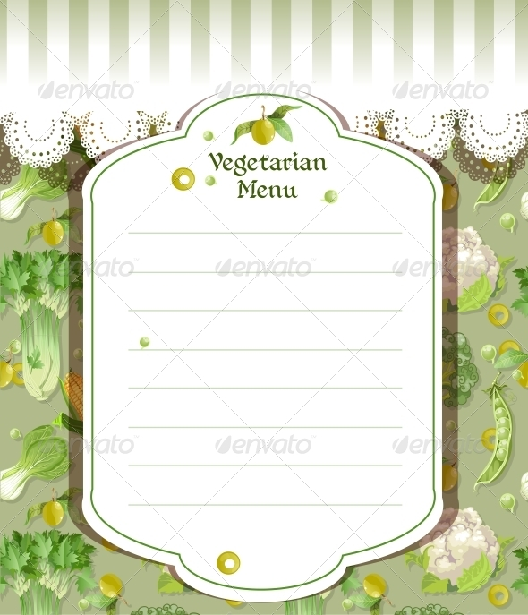 GraphicRiver Vegetarian Menu 6431134