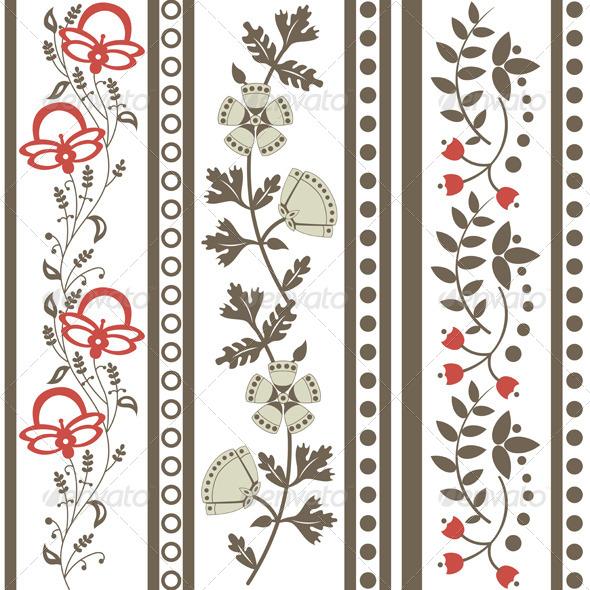 GraphicRiver Vintage Floral Ornaments 6431163