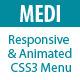 MEDI –  Responsive & Animated CSS3 Menu (Navigation and Menus) Download