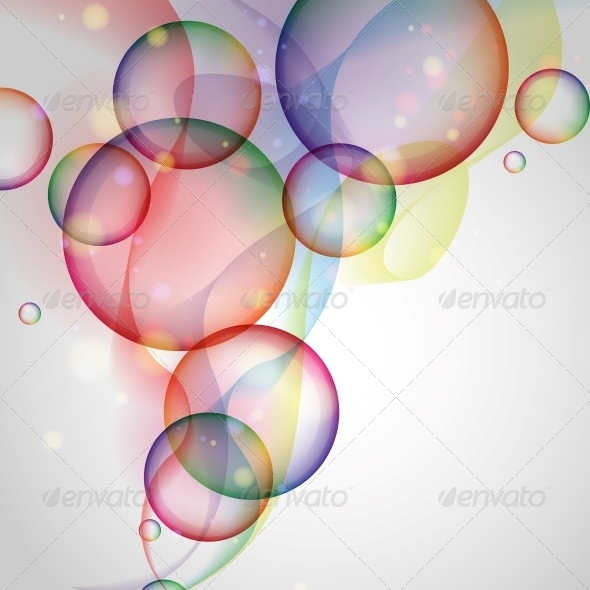 GraphicRiver Colorful Glowing Bubbles Background 6431729