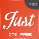 Just  – One Page Web Templates Design (Creative) Download