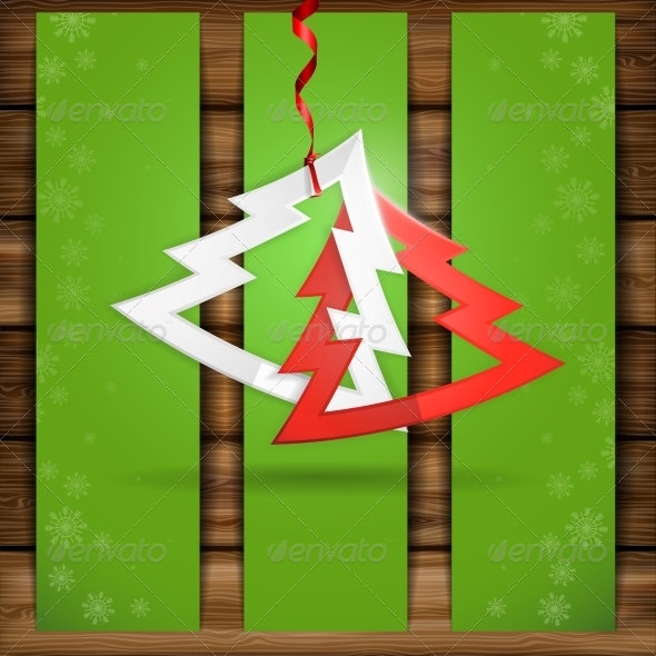 GraphicRiver Simple Paper Christmas Tree 6431797
