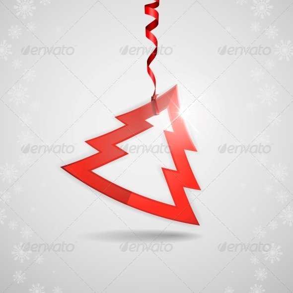 GraphicRiver Simple Paper Christmas Tree 6431804