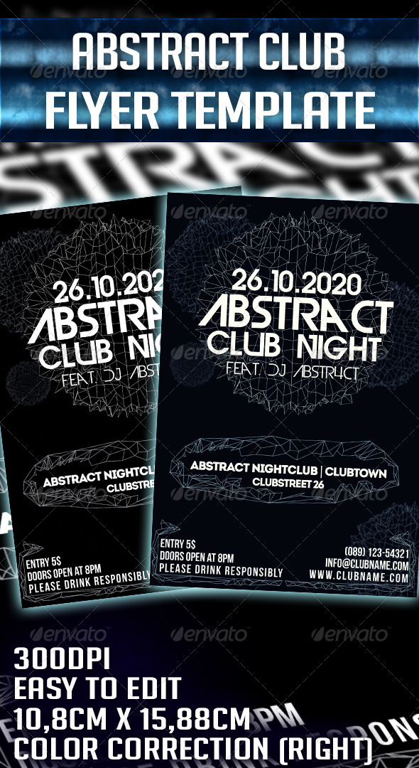 GraphicRiver Abstract Party Flyer Template 6431816