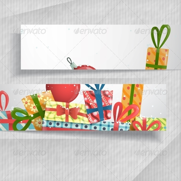 GraphicRiver 3D Abstract Banners with Place for Text 6431974