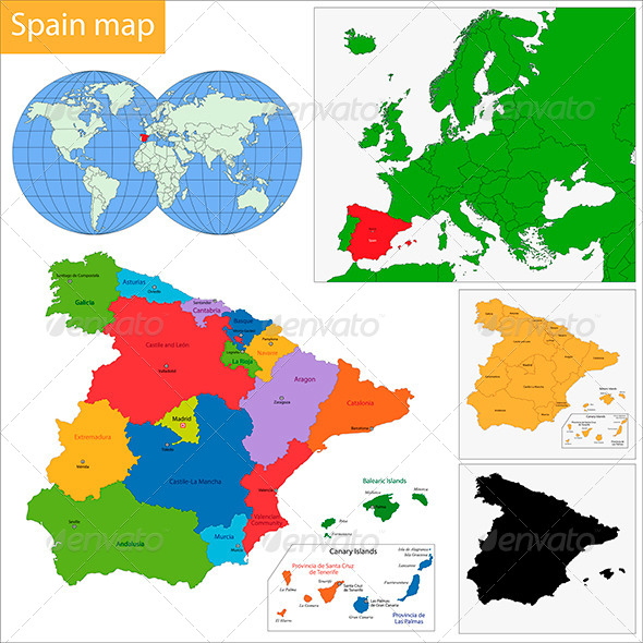 GraphicRiver Spain Map 6432255