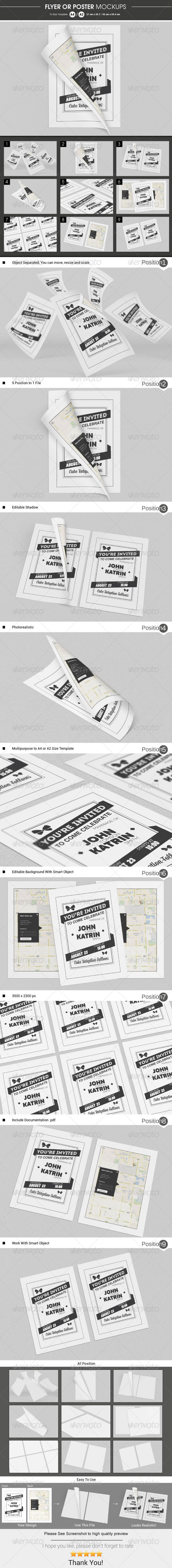 GraphicRiver Flyer Poster Mockups 6415537