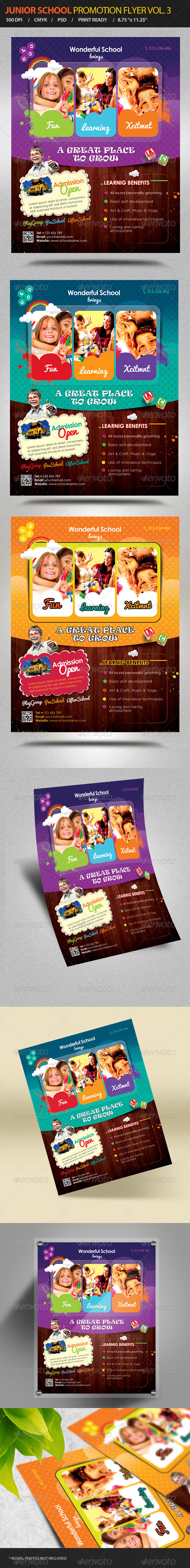 GraphicRiver Junior School Promotion Flyers Vol 3 6432291
