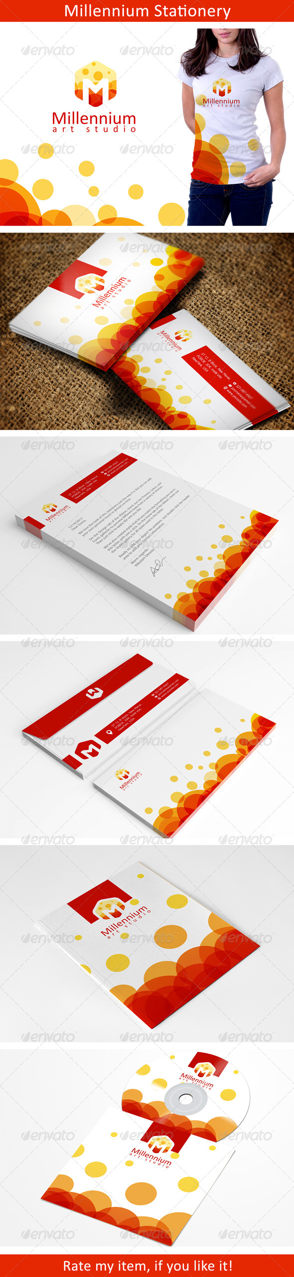 GraphicRiver Colorful Stationery Template 6432346