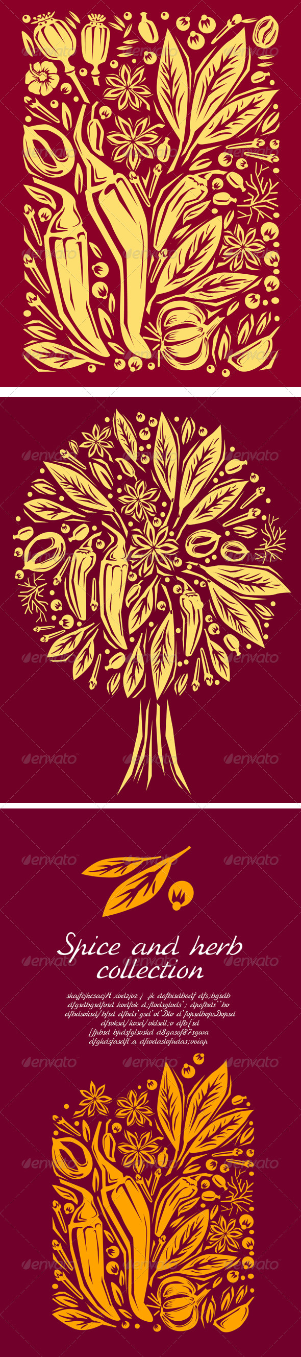 GraphicRiver Woodcut Style Illustration of Spices 6432354