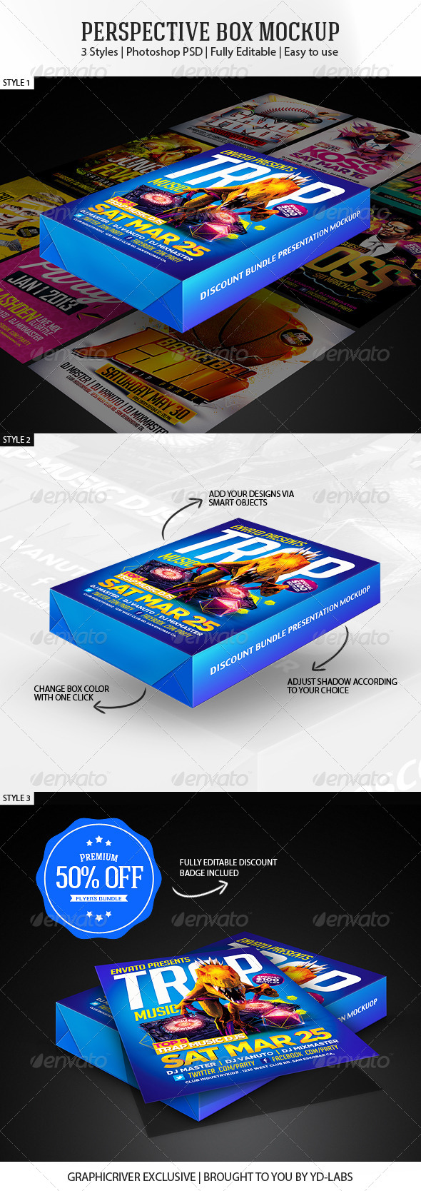 Perspective Box Mockup V1 - Miscellaneous Packaging