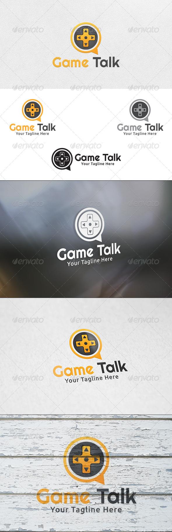 GraphicRiver Game Talk Logo Template 6432629