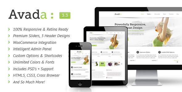 Avada. Theme premium responsive para wordpress