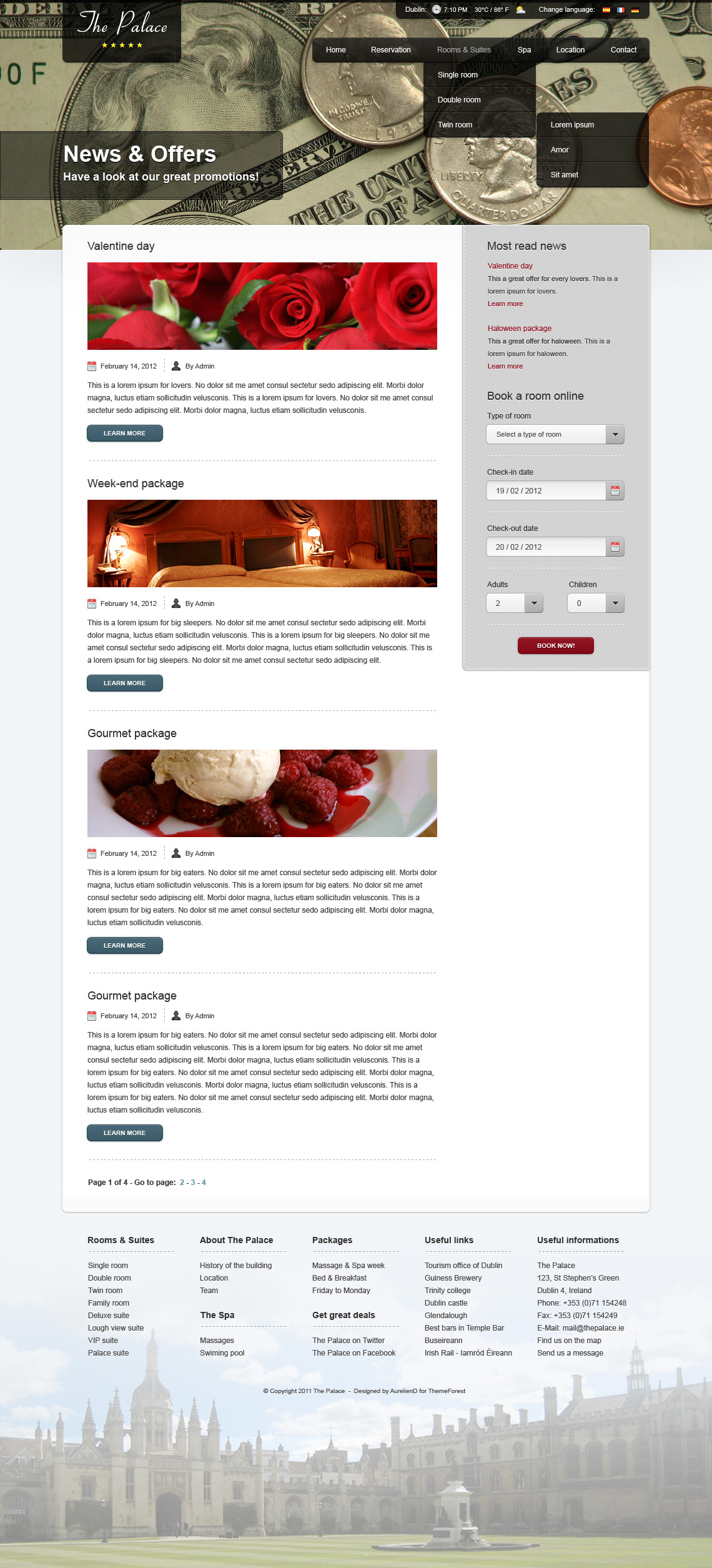The Palace - Hotel PSD Theme