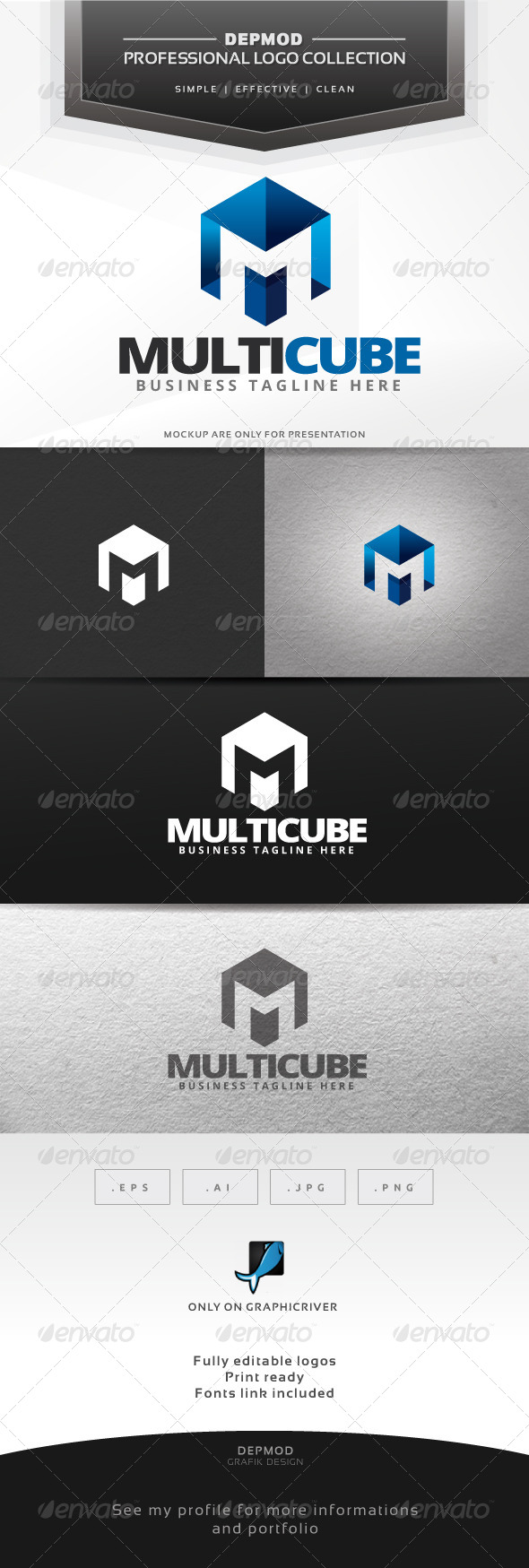 GraphicRiver Multi Cube Logo 6433032