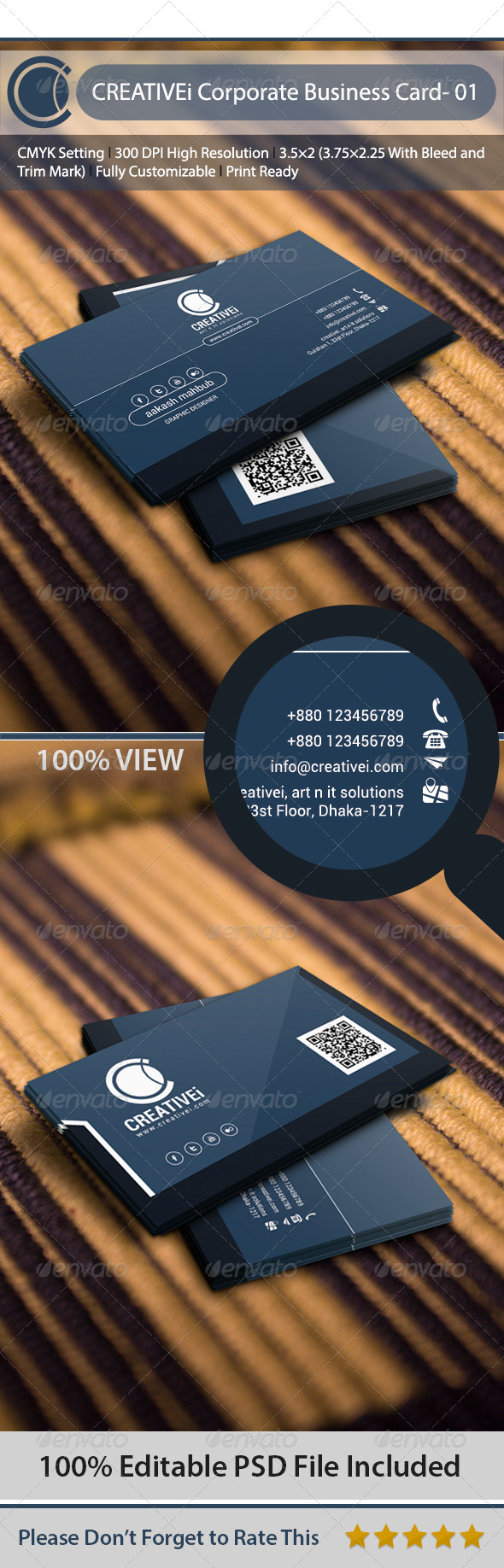 GraphicRiver Corporate Business Card- 01 6397297