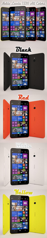 3DOcean Nokia Lumia 1320 All Color 6433444