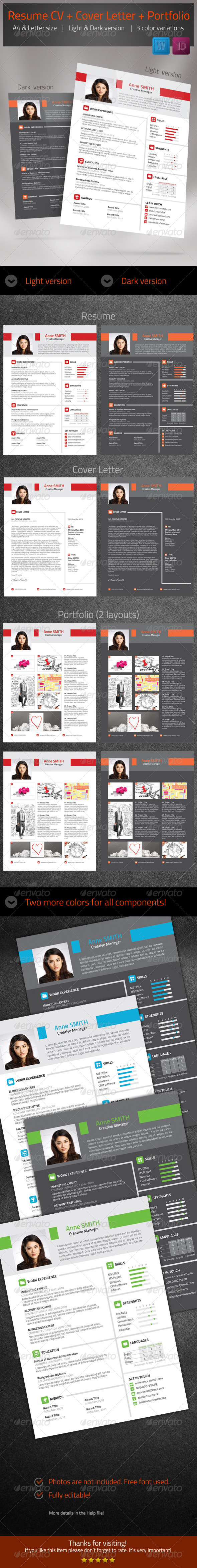 GraphicRiver Resume CV 6433450
